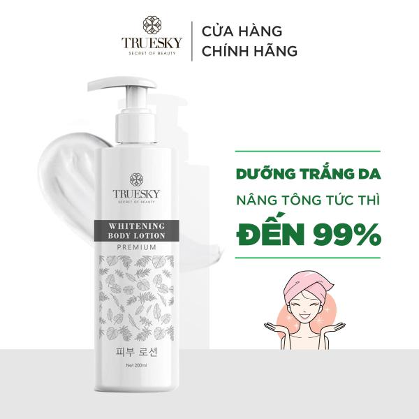 Kem body dưỡng trắng toàn thân Truesky Premium dạng lotion phân tử nước phiên bản cao cấp 200ml - Whitening Body Lotion giá rẻ