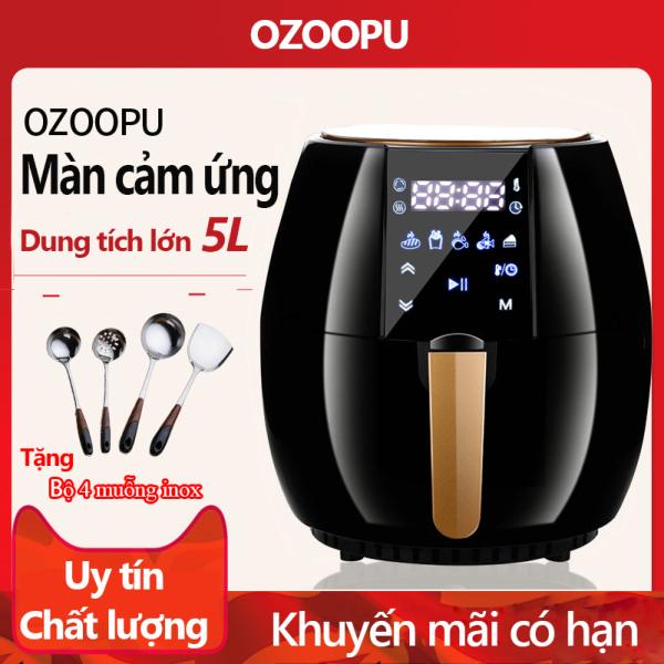 Nồi chiên không dầu hiệu OZOOPU dung tích 5 lít bảng điều khiển cảm ứng Điện máy bé XANH