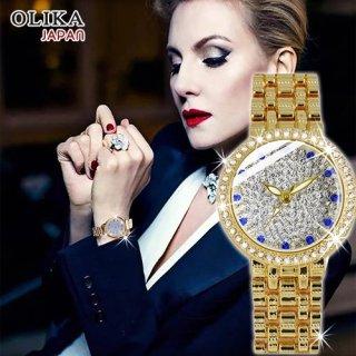 Đồng hồ nữ OLIKA JAPAN Đính Đá Sang Trọng - Tặng Kèm Pin ĐH Dự Phòng thumbnail