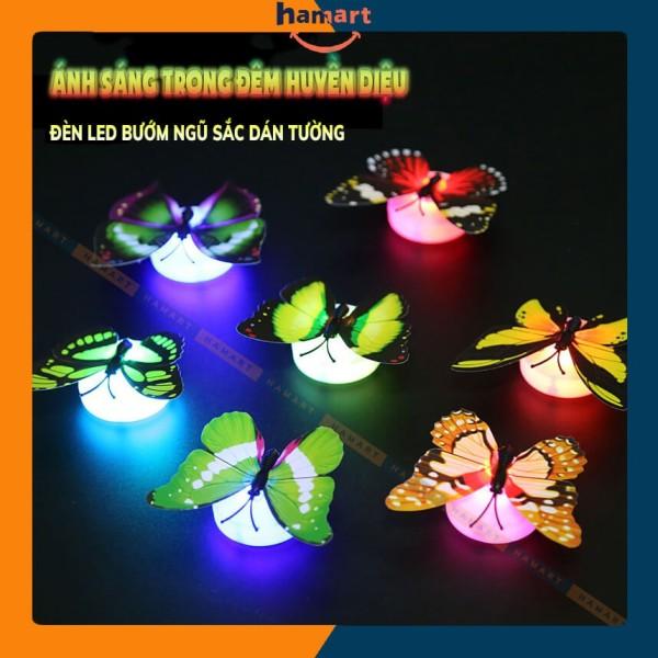 Đèn LED Dán Tường Bướm Ngũ Sắc Đèn LED Dán Trần Đa Sắc Lung Linh Chất Lượng Cao