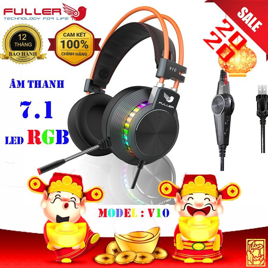 Giá Tai nghe game Fuller V10 âm thanh 7.1 có LED RGB - Phân Phối Chính Thức - Fuller Store