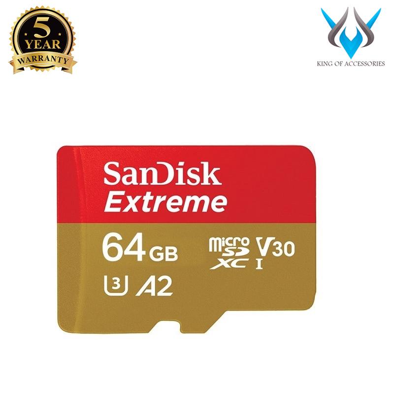 Thẻ Nhớ MicroSDXC SanDisk Extreme 64GB V30 U3 4K A2 R160MB/s W60MB/s (Vàng) - No Adapter