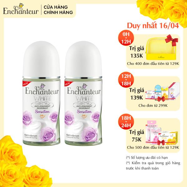 Combo 2 Lăn khử mùi trắng da Enchanteur Sensation 50ml/ Chai