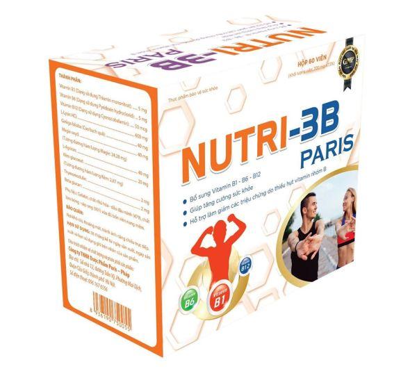 Vitamin 3b-Nutri 3B Paris - Giúp Tăng Cường Sức Khỏe- Giảm Các Triệu Chứng Do Thiếu Vitamin Nhóm B