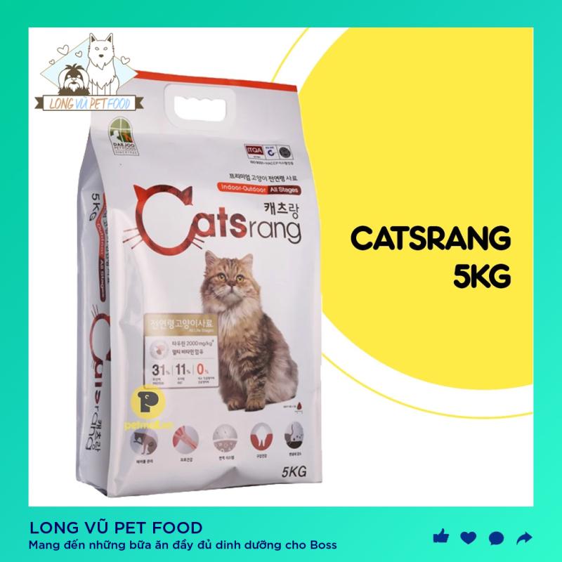 [Túi 5kg] Hạt Catsrang Hàn Quốc Cho Mèo - Thức ăn cho mèo lớn - Long Vũ Pet Food
