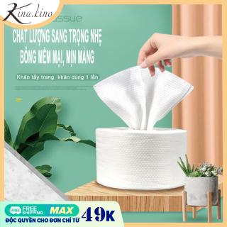[3 kích thước] bông tẩy trang, khăn mặt dùng một lần dang cuộn Cao cấp- Kinakino thumbnail