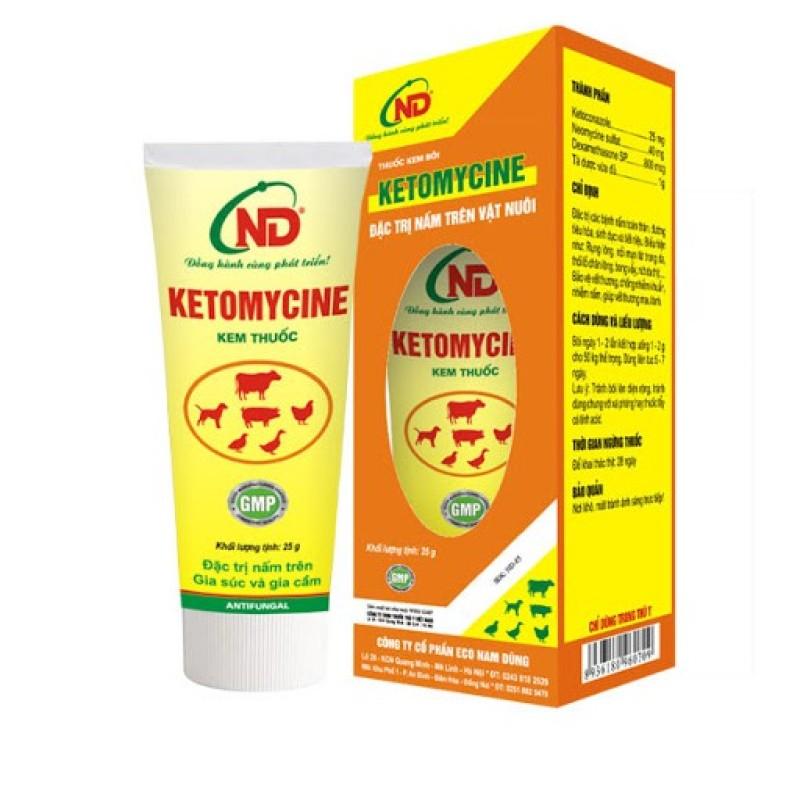 Thuốc Nấm Da Trên Chó Mèo - Ketomycine 25g