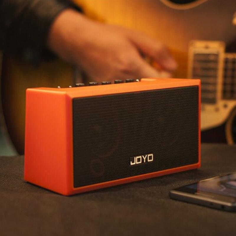 Amplifier guitar mini đa năng kết nối bluetooth 4.0 có app smartphone (Gồm loa, nguồn, dây cáp 3.5mm, sách hướng dẫn) - Hàng chính hãng