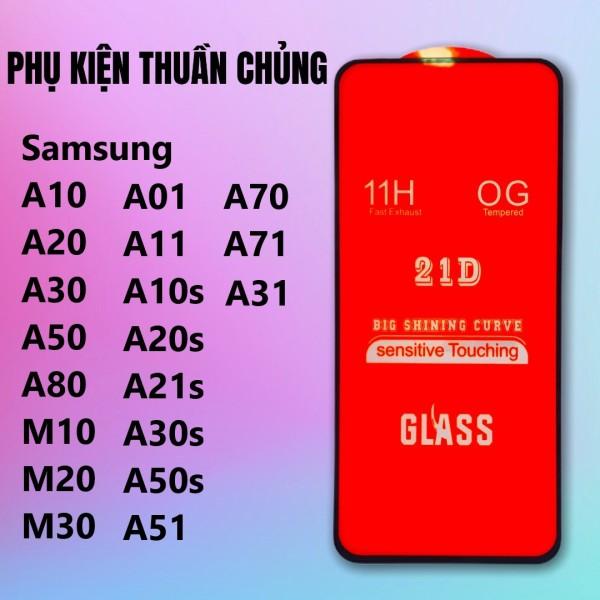 Giá Kính cường lực Full keo Samsung New A71, A51, A10, A20, A30, A01, A50, A11, A70, A80, A21s, M10, M20, M30, M40, A10s, A30s, A50s, M30s,A31