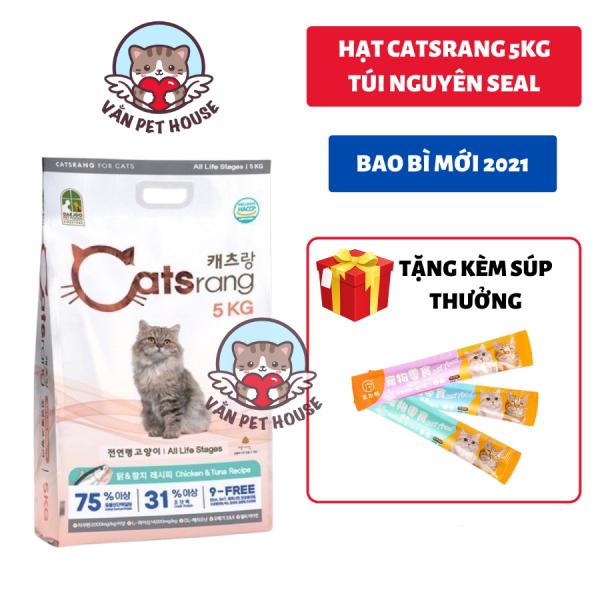 Hạt Cho Mèo CATSRANG 5KG Nguyên Seal - CATRANG Tăng Cường Hệ Miễn Dịch