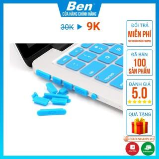 Nút Chống Bụi Laptop Set 9 Nút Silicon Cho Ổ Cắm Laptop, Macbook - Màu Ngẫu Nhiên thumbnail