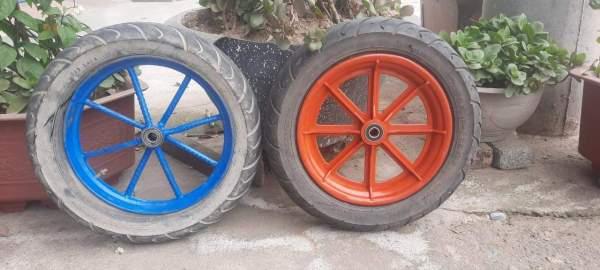 Bánh xe thay thế cho bánh xe rùa (Vành nhựa hoặc sắt)