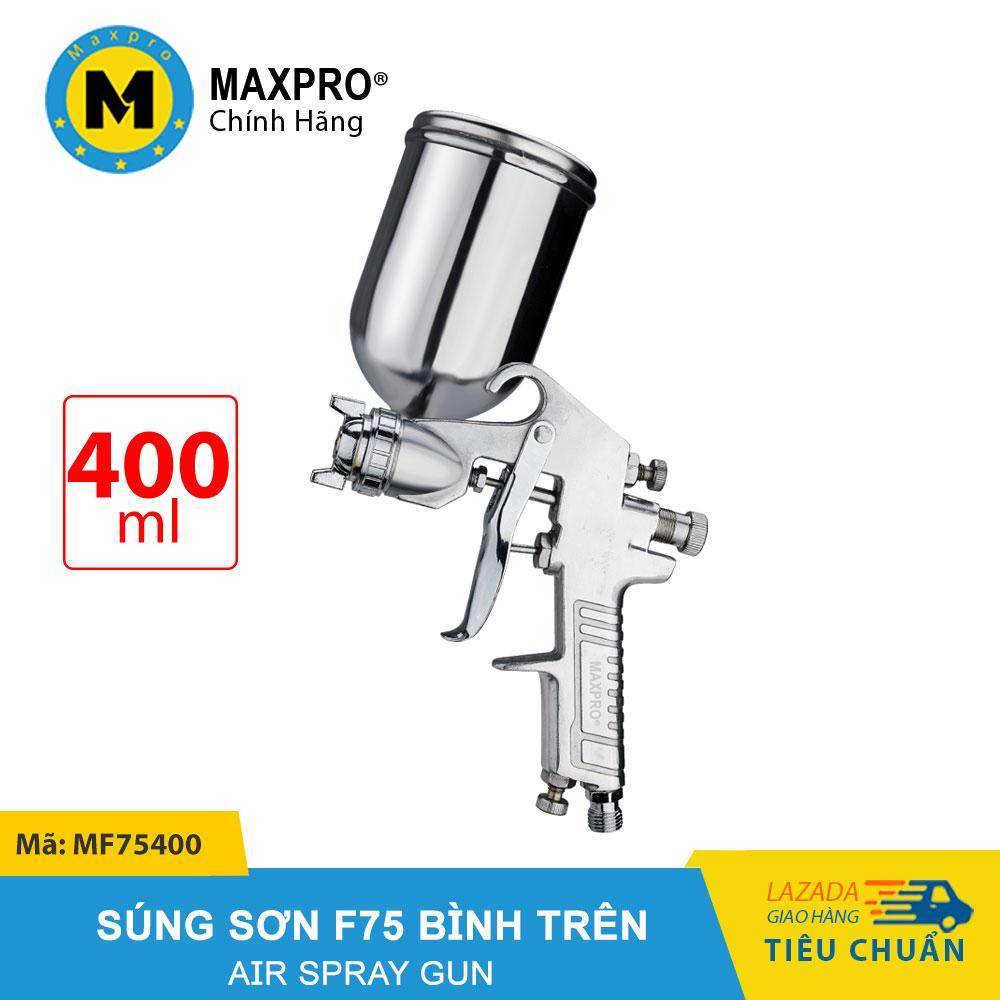 Máy Phun Sơn F75 MAXPRO Cao Cấp Bình Chứa Sơn 400ml – MF75400