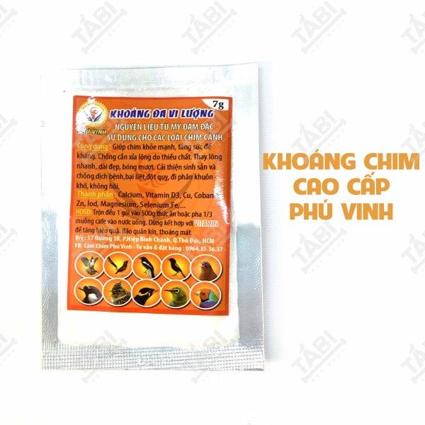 7G Khoáng Đa Vi Lượng Cao Cấp Cho Chim Cảnh Phú Vinh.