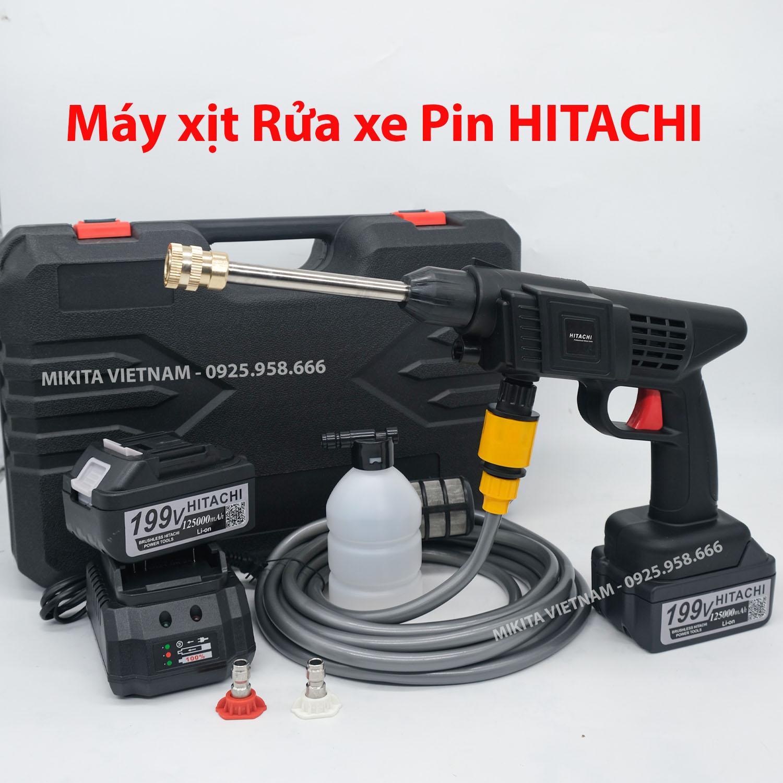 Máy rửa xe PIN Hitachi - Mới nhất 2021