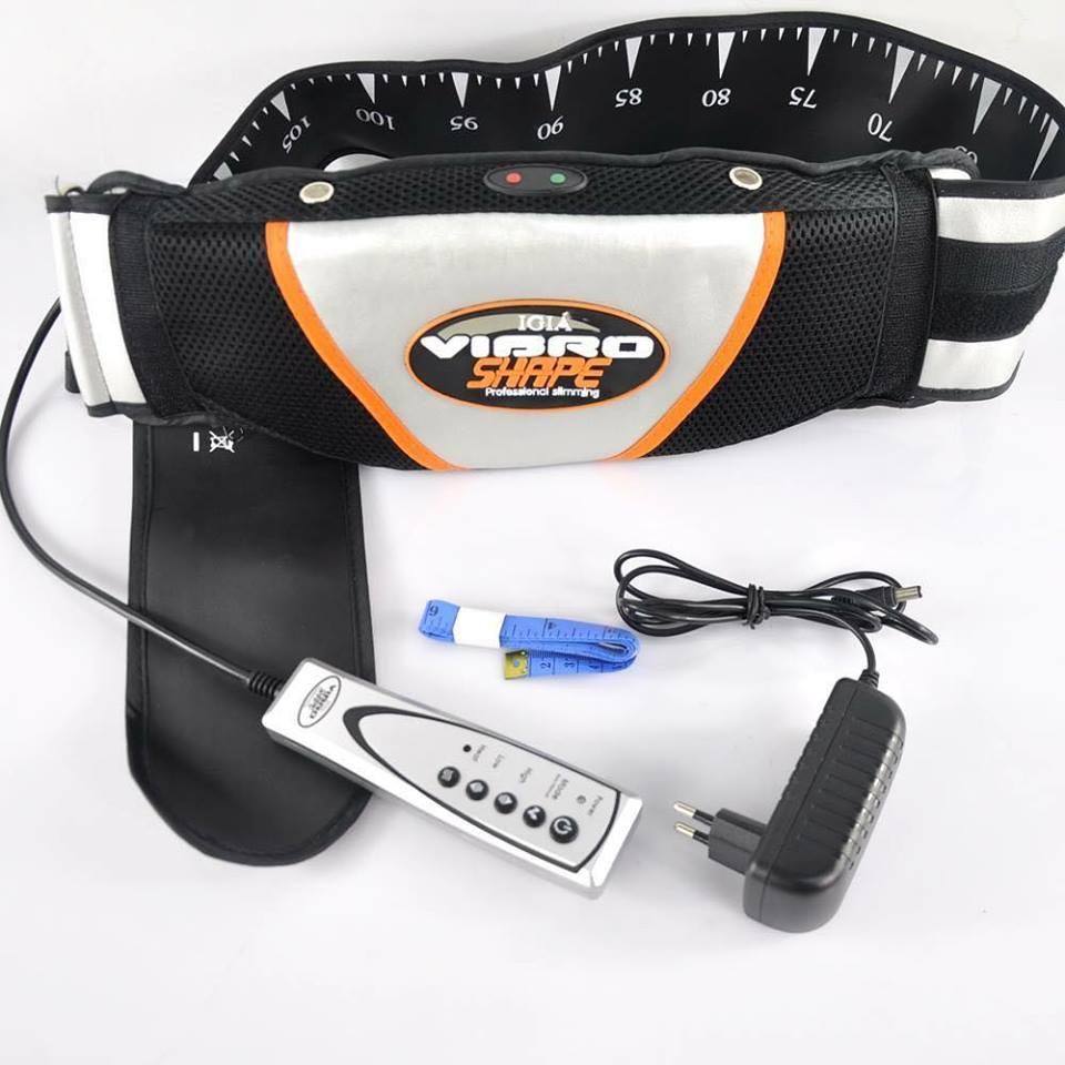 Đai Massage Giảm Mỡ Bụng Vibro Shape Thế Hệ Mới Hàng Nhập Chọn Ngay Đai Massage Nóng & Rung Đánh Tan Mỡ Bụng Nhanh Chóng Hiệu Quả Nhanh Thiết Kế Nhỏ Gọn Co Túi Đựng Mang Đi Du Lịch Dễ Vệ Sinh Độ Bền Cao.
