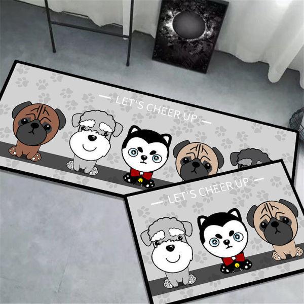 Thảm Bếp Set 2 Chiếc Hình Chữ L Họa Tiết Chú Chó Đáng Yêu