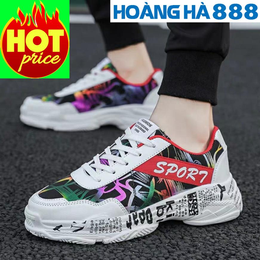 Giày thể thao nam sneaker Họa Tiết Mẫu Mới 2020 giá rẻ