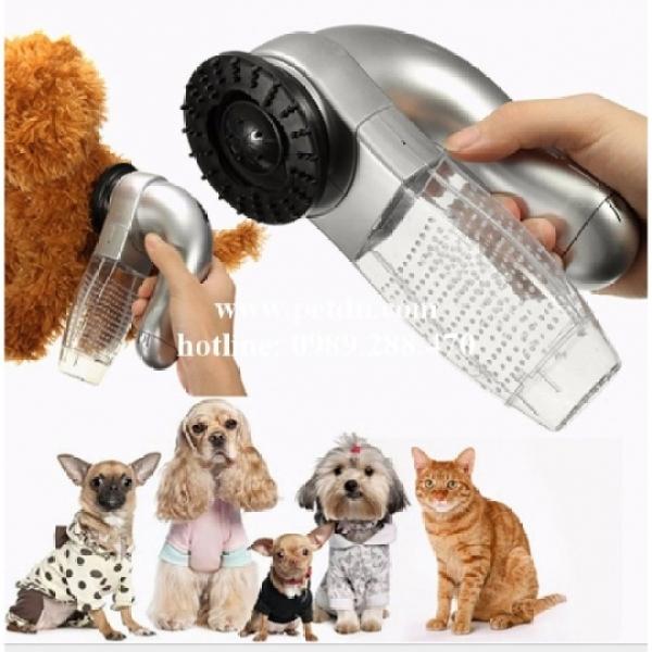 Máy Hút Tự Động Lấy Lông Rụng Cho Chó Mèo Shed Pal, Máy Nhỏ Gọn Cầm Tay, Tiện Lợi, Dễ Cầm Nắm Và Sử Dụng, Động Cơ An Toàn Cho Chó Mèo,