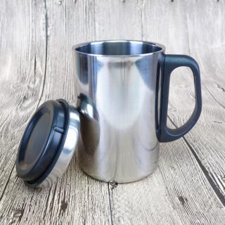 Cốc uống cà phê dạng nhiệt, Ca giữ nhiệt inox 500ml , Ly giữ nhiệt có nắp đậy bằng inox cao cấp thumbnail