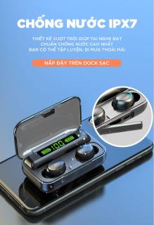 Tai Nghe Bluetooth Không Dây Amoi F95 Bản Cao Cấp Hỗ Trợ Mọi Dòng Máy - Tai Nghe Bluetooth 5.0 - Tai nghe bluetooth pin trâu - Tai nghe nhét tai không dây bluetooth, Tai nghe bluetooth mini - Tai nghe i7s, i9s, i11s, Amoi f9 4