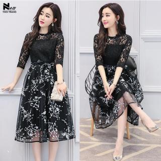 Đầm Ren Hoa Phối Nơ - New Thoi Trang thumbnail