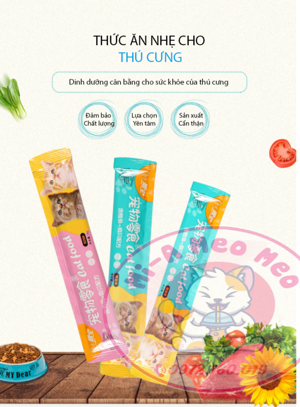 Súp thưởng Cat Food cho Mèo - 15gr /1 thanh
