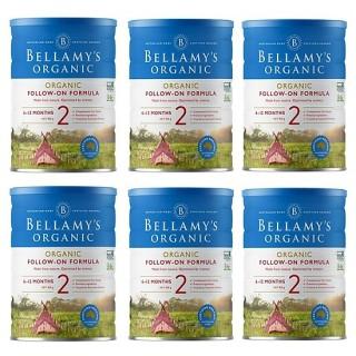 6 lon Sữa Bellamy s Organic công thức số 2 (bé từ 6-12 tháng) - 900gram thumbnail