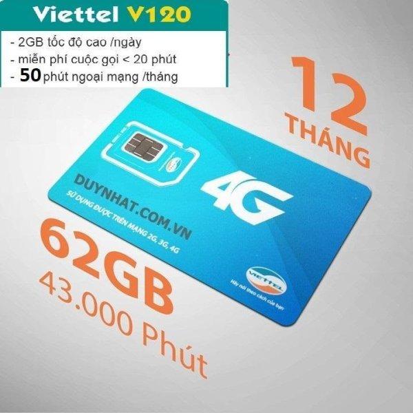 Sim 4G Viettel V120 , sim viettel giá rẻ nghe gọi binh thường