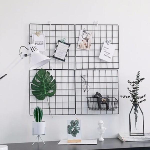 Tấm Lưới sắt thép lắp ghép TẶNG KÈM CHỐT đa năng: giá để sách, đồ trang trí, chuồng quây chó mèo, decor trang trí nhà