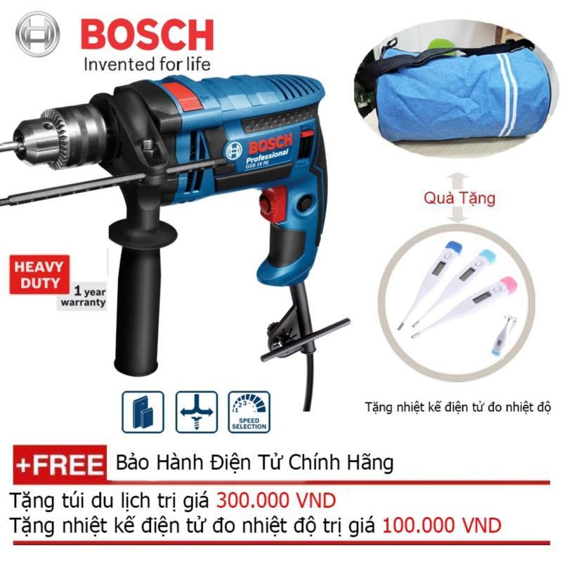 Máy khoan động lực Bosch GSB 16 RE (Hộp nhựa) + Quà tặng balo du lịch