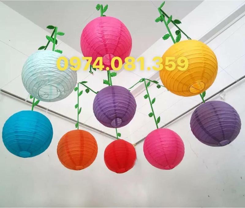 Đèn lồng vải chống nước size 30cm ( Combo 10 cái)