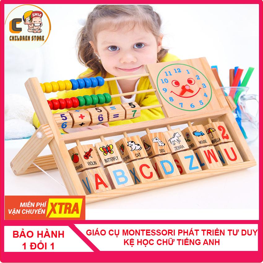 [THANH LÝ] Giáo Cụ Montessori Kệ Học Chữ Tiếng Anh - Tập Làm Toán - Xem Đồng Hồ Bằng Gỗ Cho Bé, Đồ Chơi Học Toán, Đồ Chơi Thông Minh