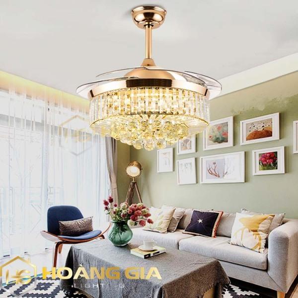 Quạt trần - Quạt trần đèn - Quạt trần trang trí -  Quạt đèn trang trí pha lê