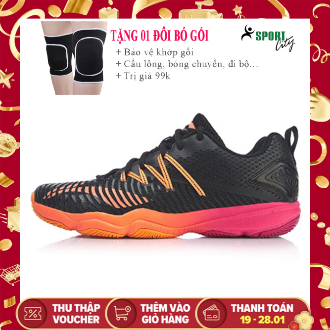 Giày cầu lông nam Lining AYTP015 màu đen, màu trắng chuyên nghiệp, bảo hành 24 tháng, đế kếp - Giày đánh cầu lông nam - giày đánh bóng chuyền nam - giày thể thao nam giá rẻ