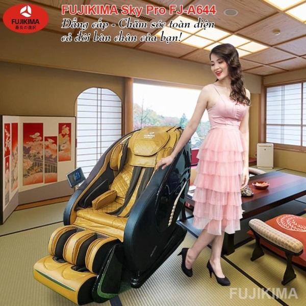 Ghế massage liên động tự động massage toàn thân thời thượng quý phái trị liệu Nhật Bản FUJIKIMA FJ-A644