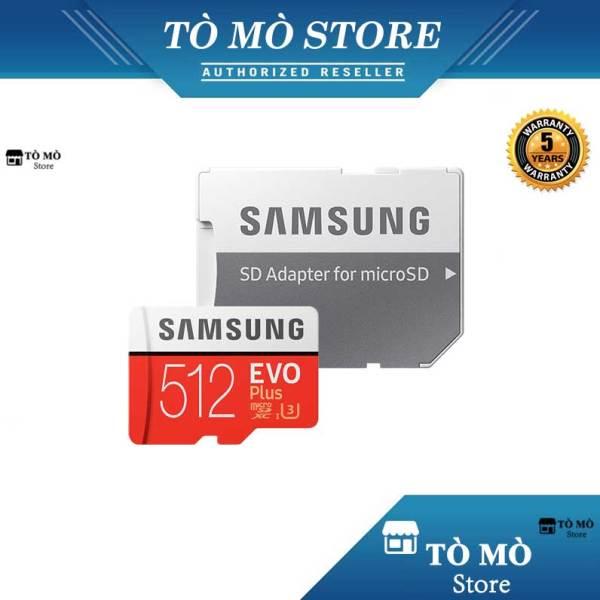 Thẻ nhớ MicroSD Samsung Evo Plus 512GB 4K U3 + Adapter - Bảo hành 5 năm
