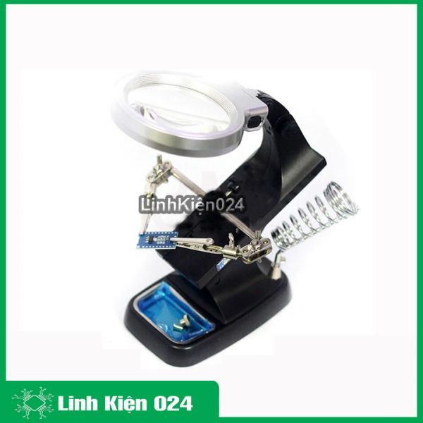 Kính lúp hàn mạch để bàn đa năng TH-7023 3X/4.5X quay 360 độ (có đèn)