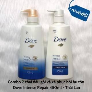 Combo 2 chai dầu gội và xả phục hồi hư tổn Dove Intense Repair 450ml - Thái Lan thumbnail