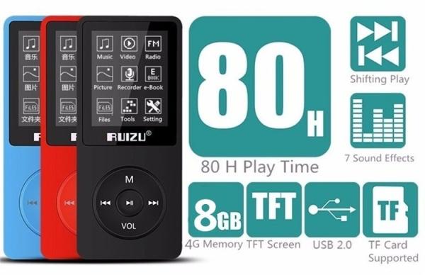 (CÓ SẴN) Máy nghe nhạc lossless Ruizu X02 bản 8Gb - Bản 2021 - Nghe nhạc, xem phim, xem ảnh, đọc Ebook, ghi âm ...