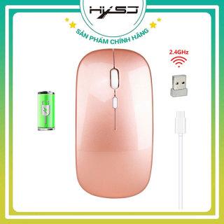 Chuột không dây HXSJ M80, công nghệ cảm biến quang học DPI 1600 Khoảng cách kết nối 10m, Chuột pin sạc thiết kế chồng ồn di chuyển nhẹ nhàng nhạy bén -HÀNG CHÍNH HÃNG BẢO HÀNH 12 THÁNG thumbnail
