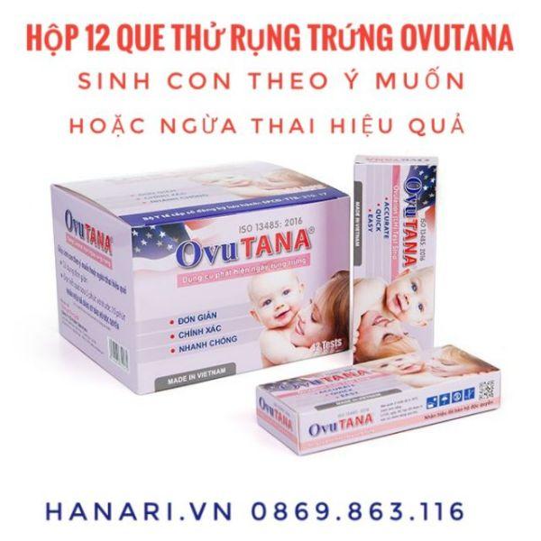 [Chính xác nhất] Hộp 12 que/test thử rụng trứng/ trứng rụng Ovutana - 3 test rụng trứng nhập khẩu
