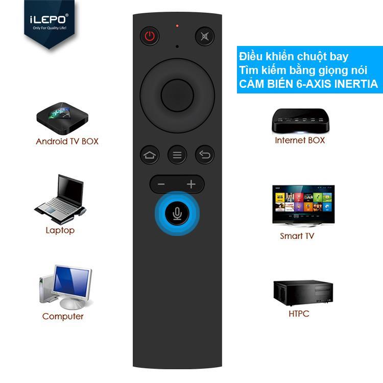 Remote điều khiển giọng, điều khiển chuột bay - chuyên dùng cho Android box, bảo hành 1 năm 1 đổi 1 ILEPO  AIR MOUSE