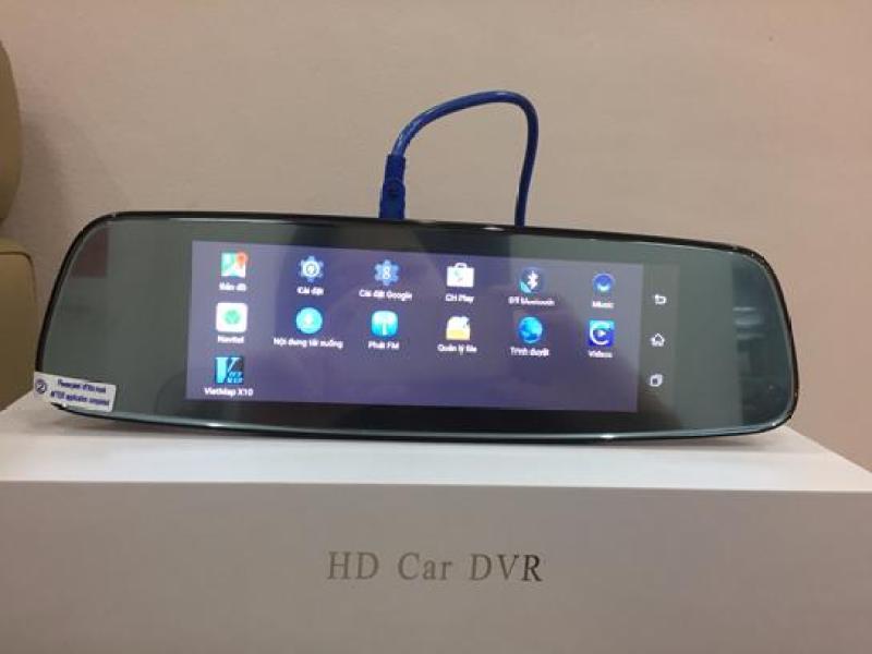 Camera hành trình HD-48L dạng gương màn hình 8inch 4G , phiên bản cập nhật mới nhất, với tính năng ưu việt Hót Hít của Năm.