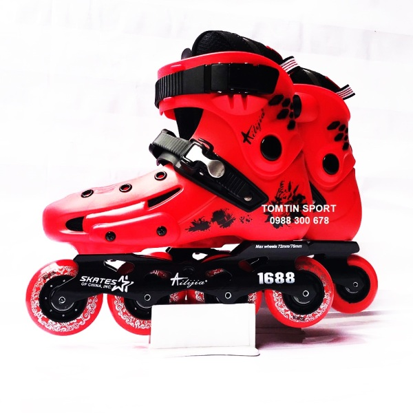 Mua Giày patin người lớn Ailijia xả kho lẻ size giá rẻ, màu sắc thời trang, bánh cao su trượt mượt êm độ trớn cao [TOMTIN SPORT]