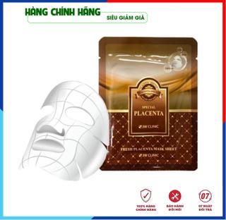 [Hàng Nhập Khẩu Hàn Quốc] Mặt nạ dưỡng da - Mặt nạ giấy tinh chất nhau thai cừu 3W Clinic Hàn Quốc 23ml thumbnail