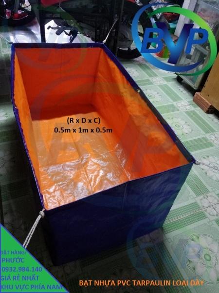 Bể bạt nhựa Tarpaulin, cao bể 0.5m có nhiều kích thước may sẵn