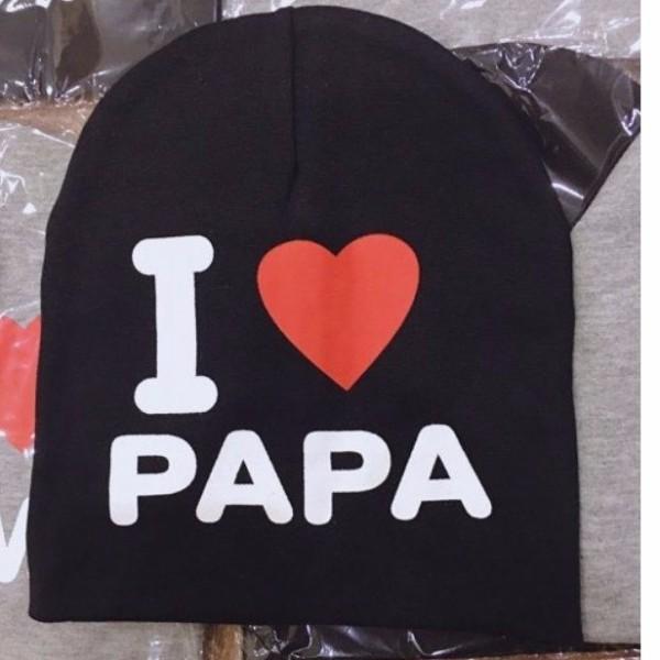 Giá bán MŨ I LOVE PAPA I LOVE MAMA CHÙM ĐẦU THỜI TRANG, GIỮ ẤM CHO BÉ