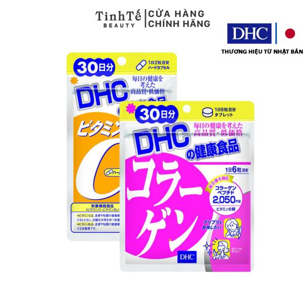 Combo Viên uống DHC Làm sáng và Đẹp da 30 ngày (Collagen & VitC) giá rẻ