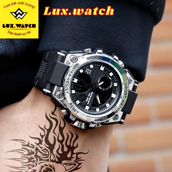 Nơi bán Đồng Hồ Nam Sanda Japan Phong Cách Thể Thao Siêu Bền Bỉ, Viền Thép chống va đập Full Box - Lux.watch